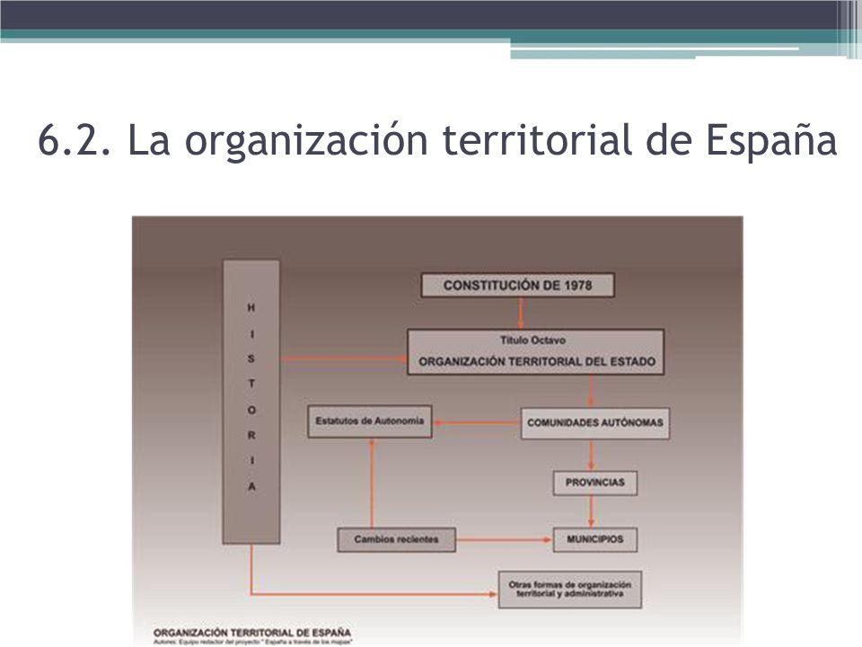 6.2. La organización territorial de España