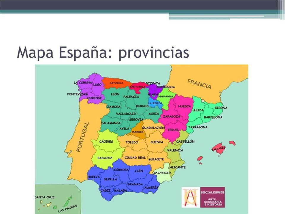 Mapa España: provincias