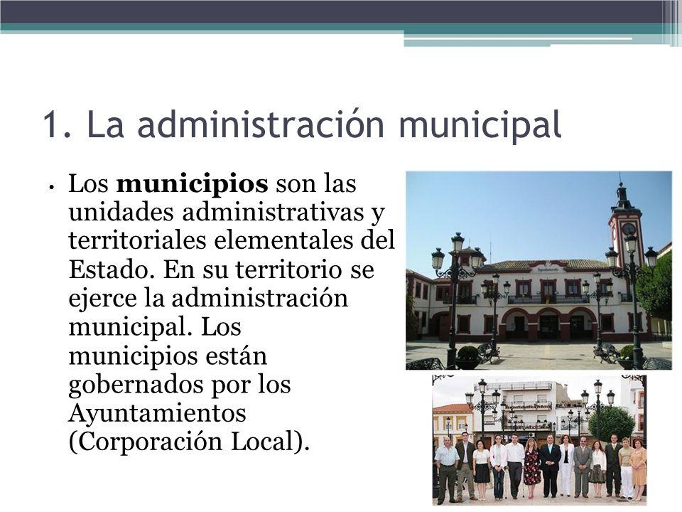 1. La administración municipal