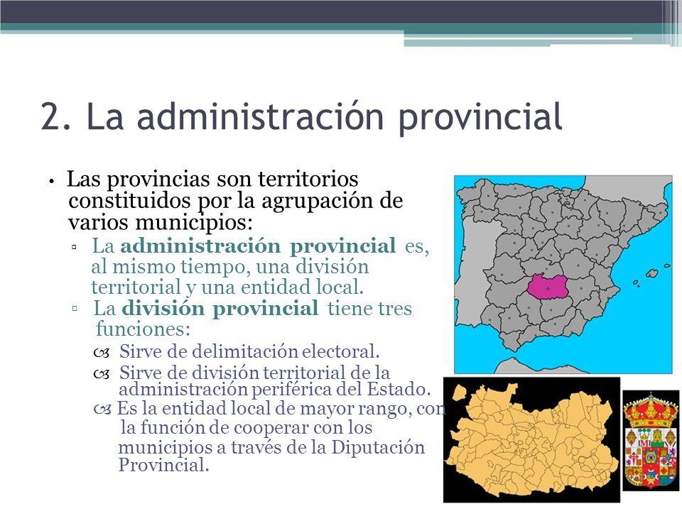 2. La administración provincial