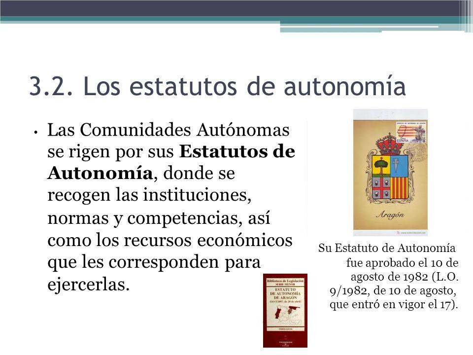 3.2. Los estatutos de autonomía