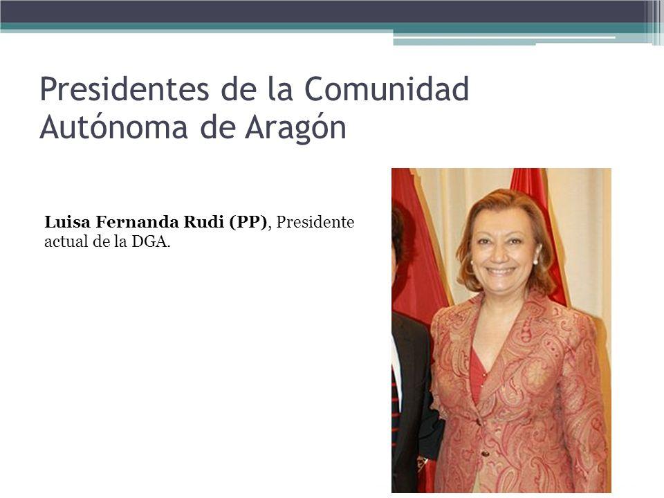 Presidentes de la Comunidad Autónoma de Aragón