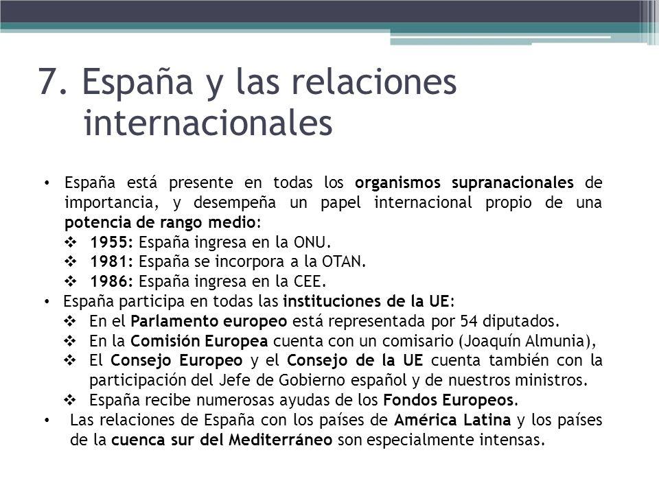 7. España y las relaciones internacionales