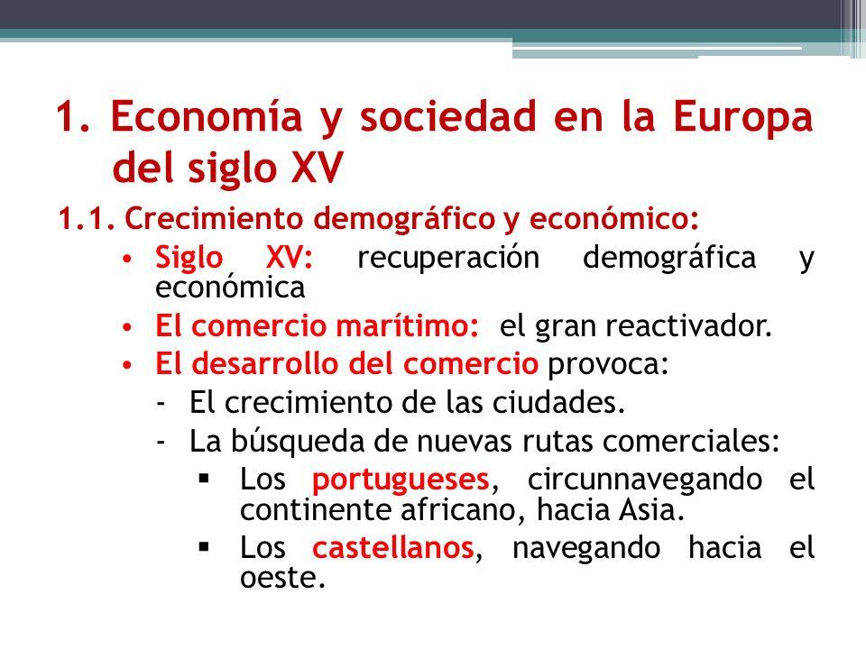 1. Economía y sociedad en la Europa del siglo XV