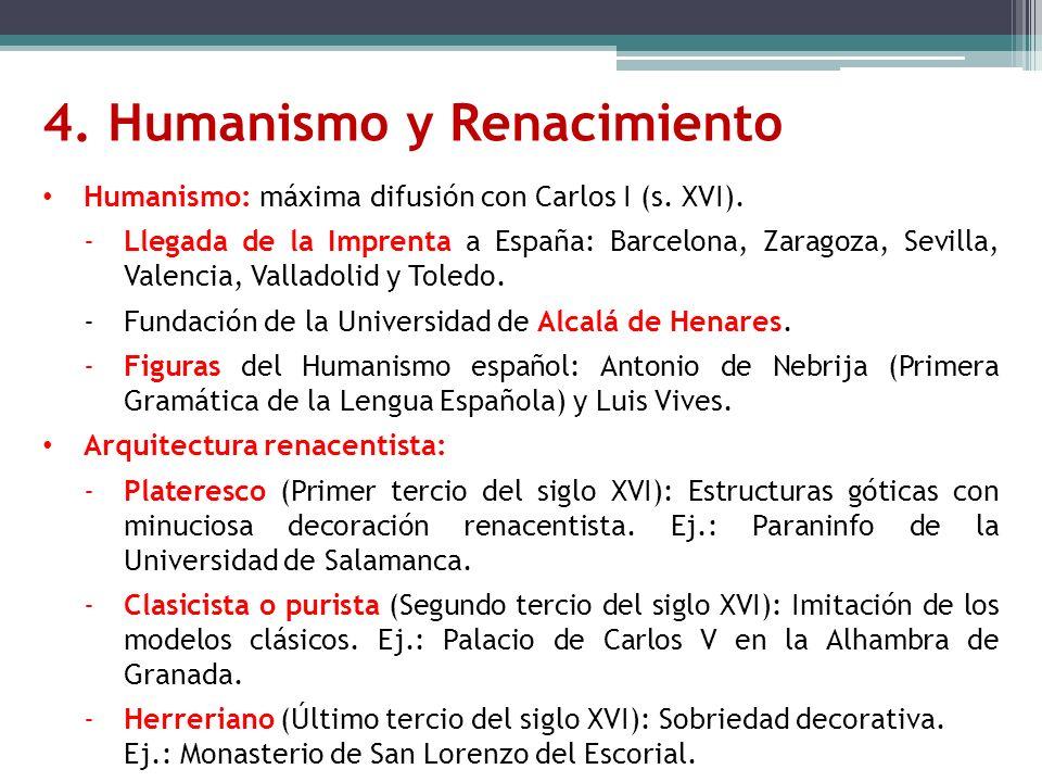 4. Humanismo y Renacimiento