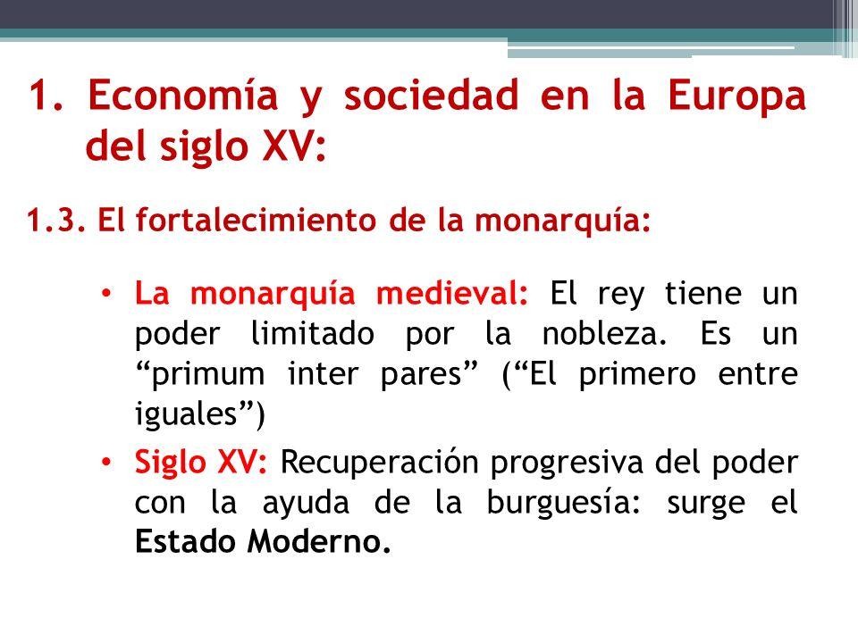 1. Economía y sociedad en la Europa del siglo XV:
