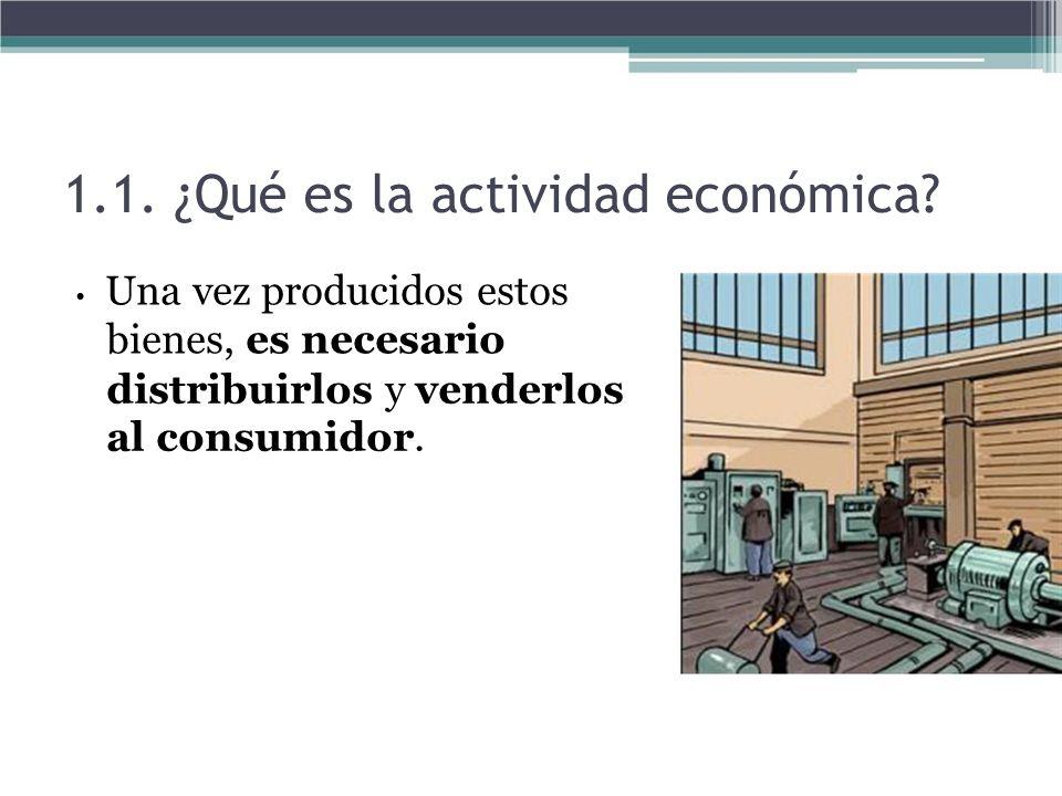 1.1. ¿Qué es la actividad económica