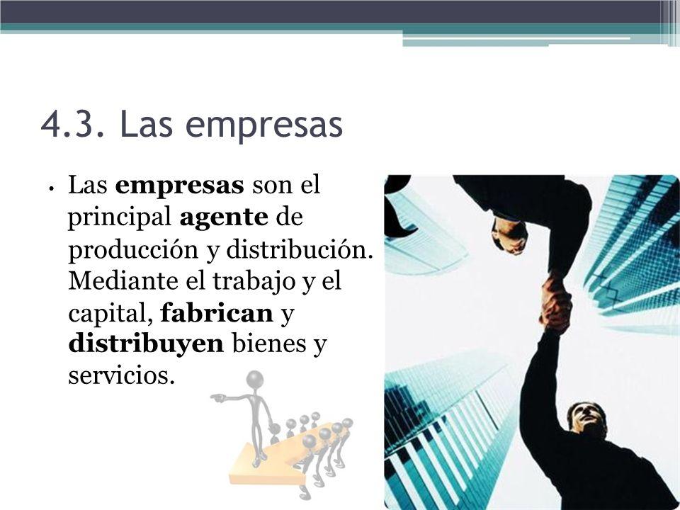 4.3. Las empresas producción y distribución. Mediante el trabajo y el