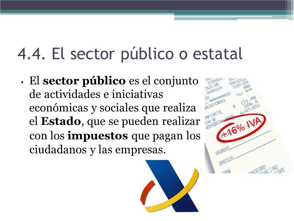 4.4. El sector público o estatal