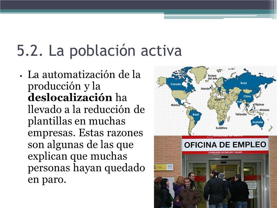 5.2. La población activa producción y la deslocalización ha