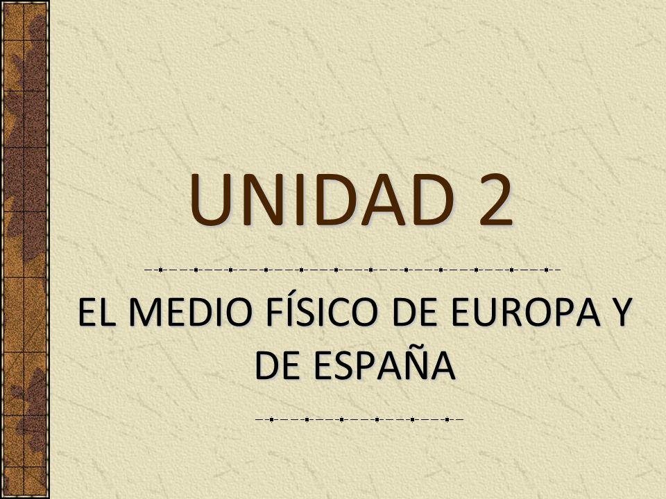 EL MEDIO FÍSICO DE EUROPA Y DE ESPAÑA