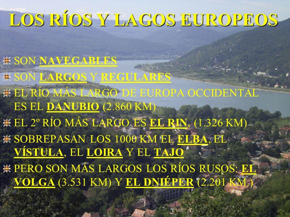 LOS RÍOS Y LAGOS EUROPEOS