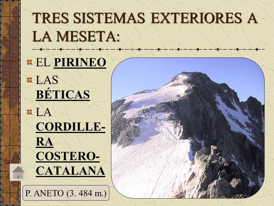 TRES SISTEMAS EXTERIORES A LA MESETA: