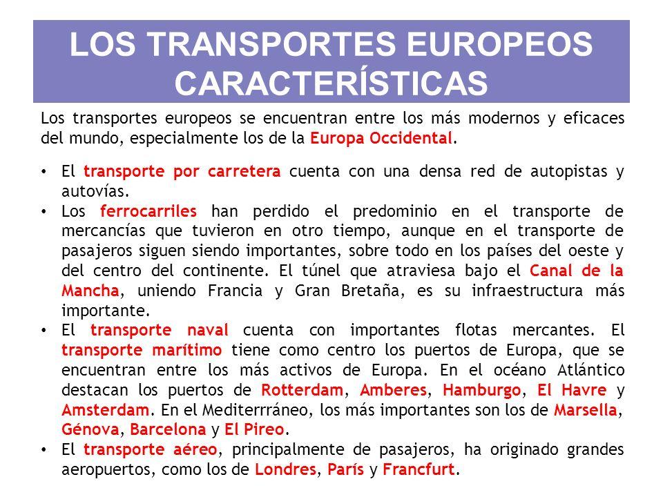 LOS TRANSPORTES EUROPEOS