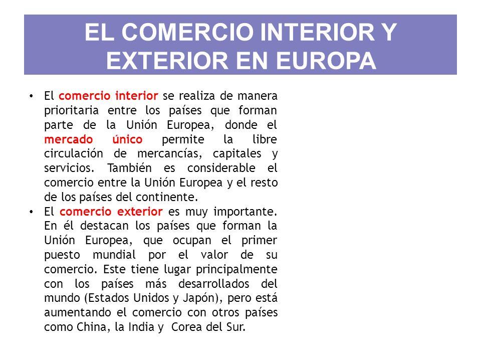 EL COMERCIO INTERIOR Y EXTERIOR EN EUROPA