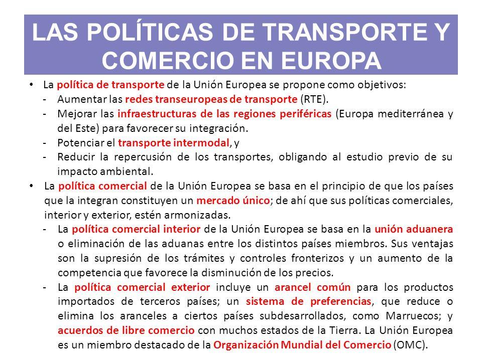 LAS POLÍTICAS DE TRANSPORTE Y COMERCIO EN EUROPA