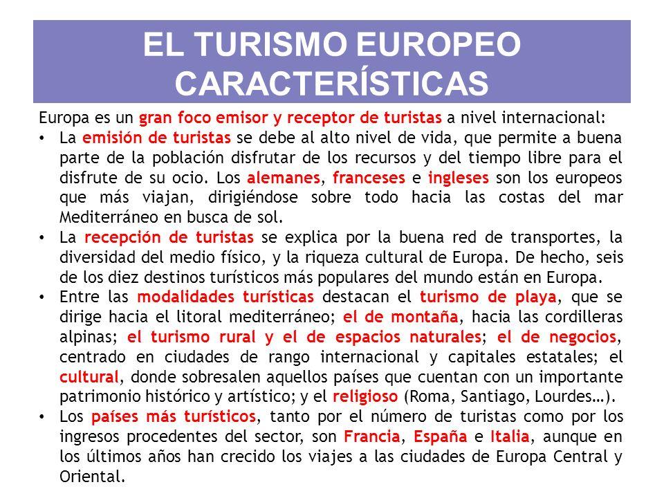 EL TURISMO EUROPEO CARACTERÍSTICAS