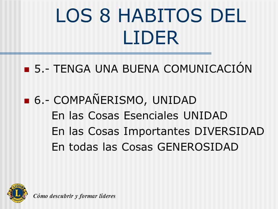 LOS 8 HABITOS DEL LIDER 5.- TENGA UNA BUENA COMUNICACIÓN