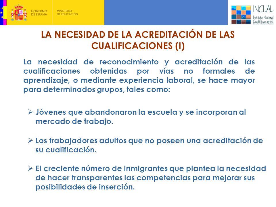 LA NECESIDAD DE LA ACREDITACIÓN DE LAS CUALIFICACIONES (I)