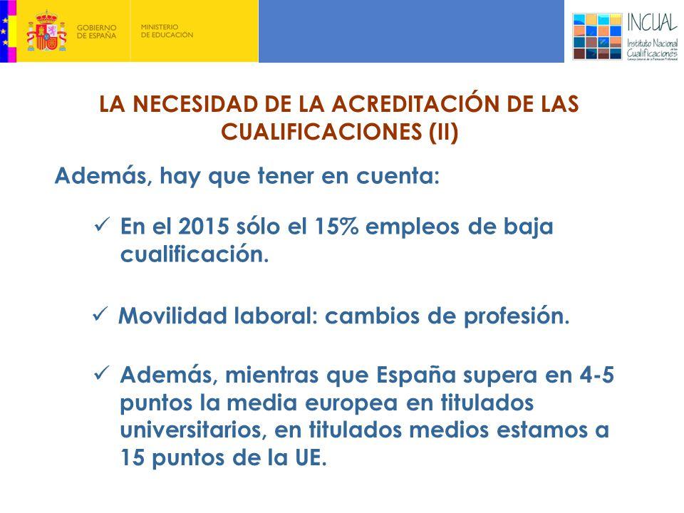 LA NECESIDAD DE LA ACREDITACIÓN DE LAS CUALIFICACIONES (II)