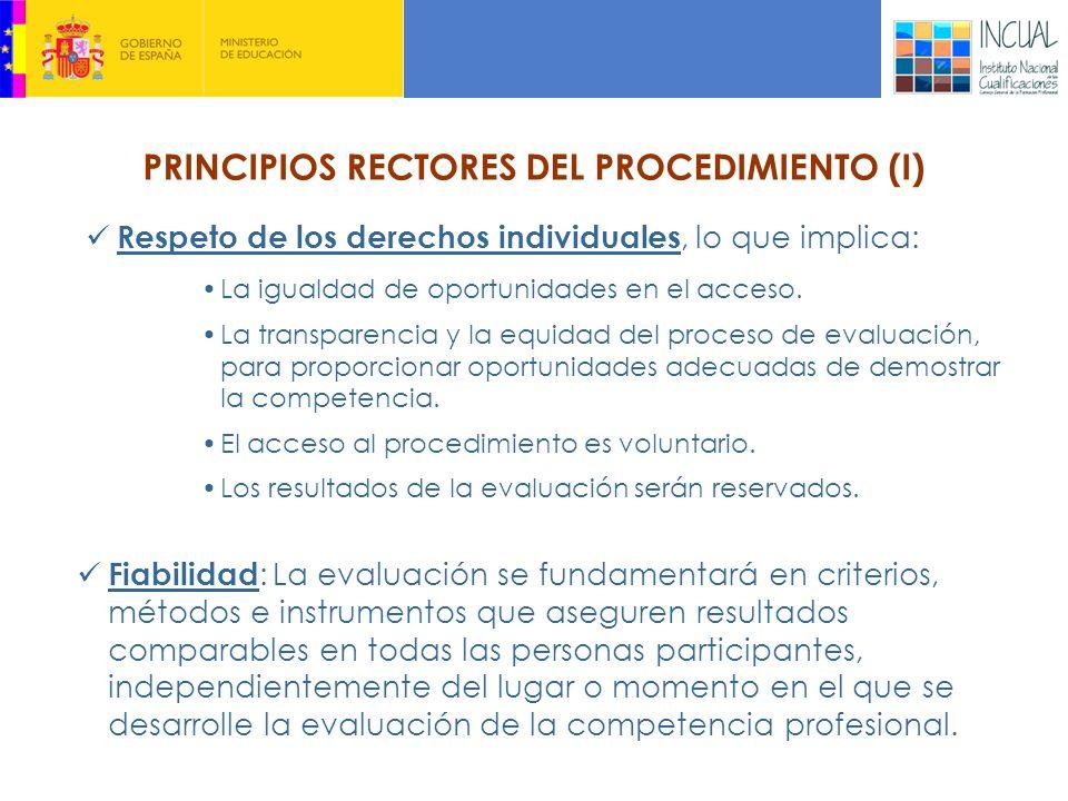 PRINCIPIOS RECTORES DEL PROCEDIMIENTO (I)
