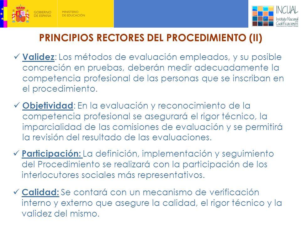 PRINCIPIOS RECTORES DEL PROCEDIMIENTO (II)
