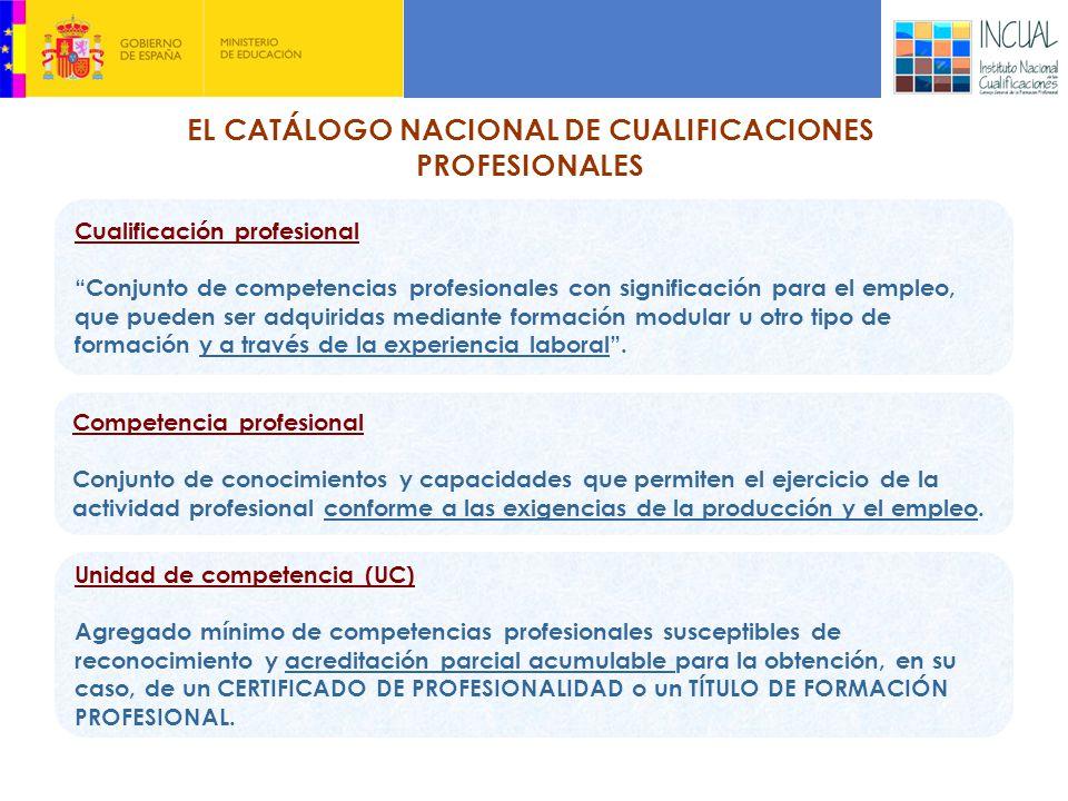 EL CATÁLOGO NACIONAL DE CUALIFICACIONES PROFESIONALES