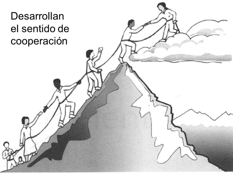 Desarrollan el sentido de cooperación