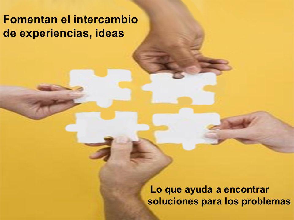 Fomentan el intercambio de experiencias, ideas