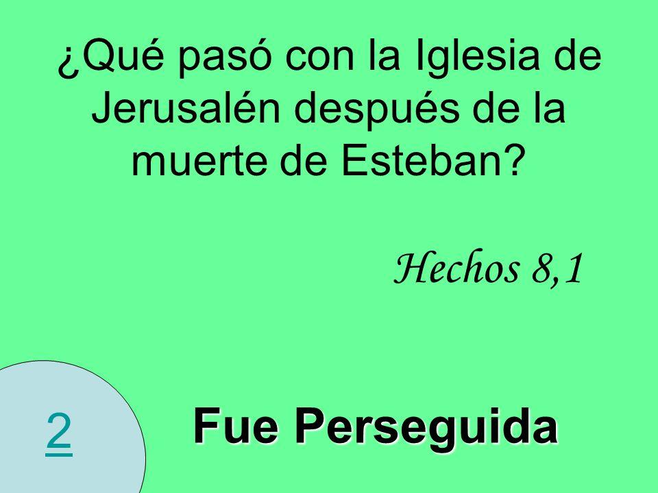 ¿Qué pasó con la Iglesia de Jerusalén después de la muerte de Esteban