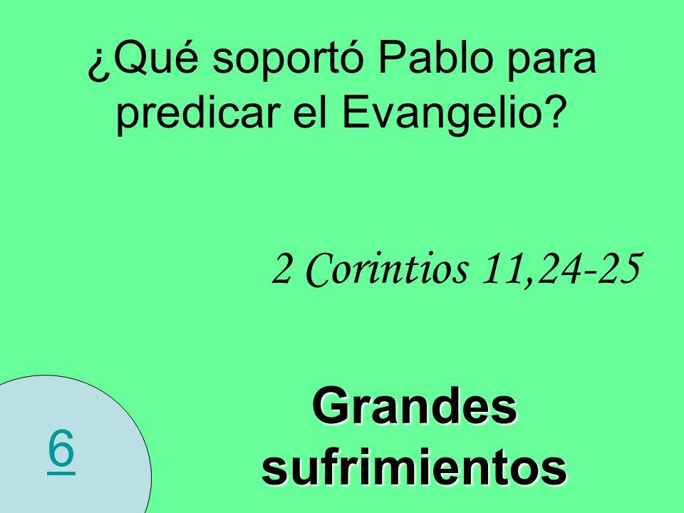 ¿Qué soportó Pablo para predicar el Evangelio