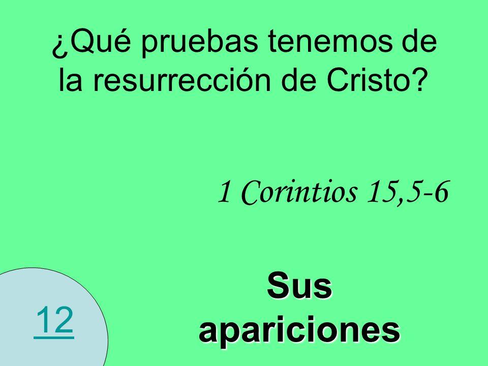 ¿Qué pruebas tenemos de la resurrección de Cristo