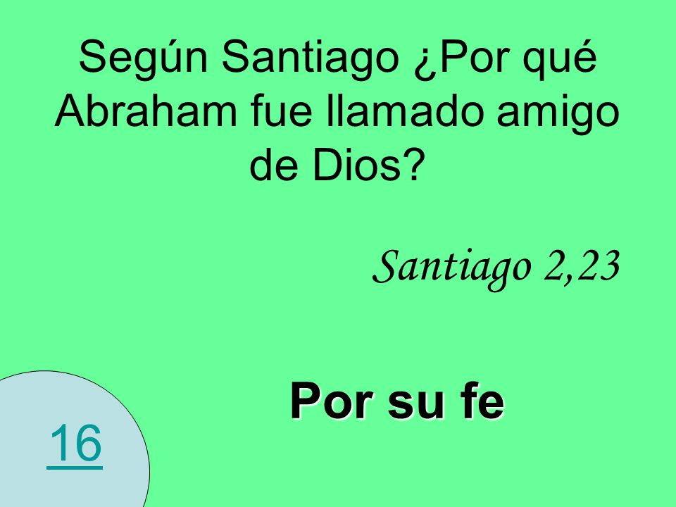 Según Santiago ¿Por qué Abraham fue llamado amigo de Dios