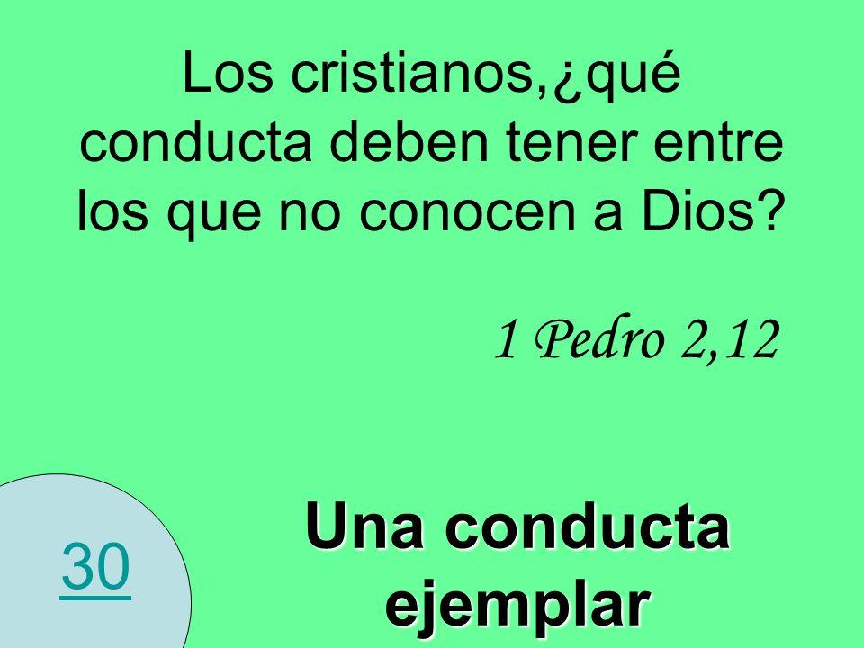 1 Pedro 2,12 Una conducta ejemplar 30