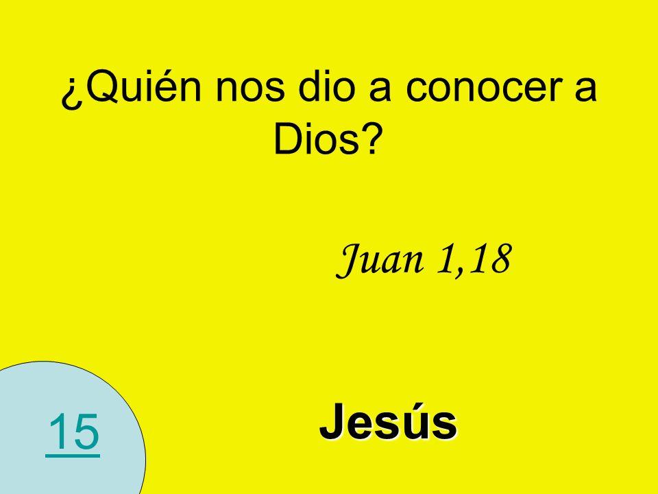 ¿Quién nos dio a conocer a Dios