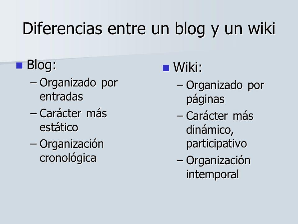 Diferencias entre un blog y un wiki