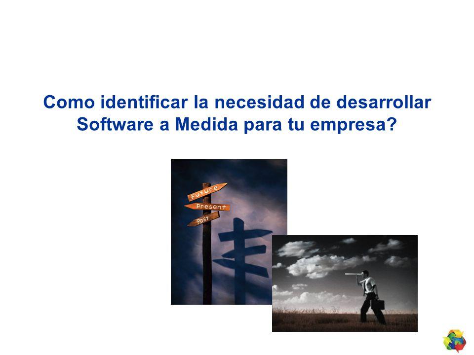Como identificar la necesidad de desarrollar Software a Medida para tu empresa