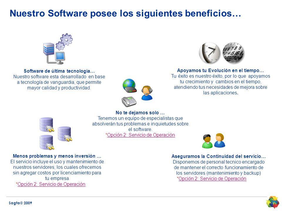 Nuestro Software posee los siguientes beneficios…