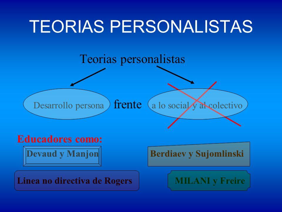 TEORIAS PERSONALISTAS