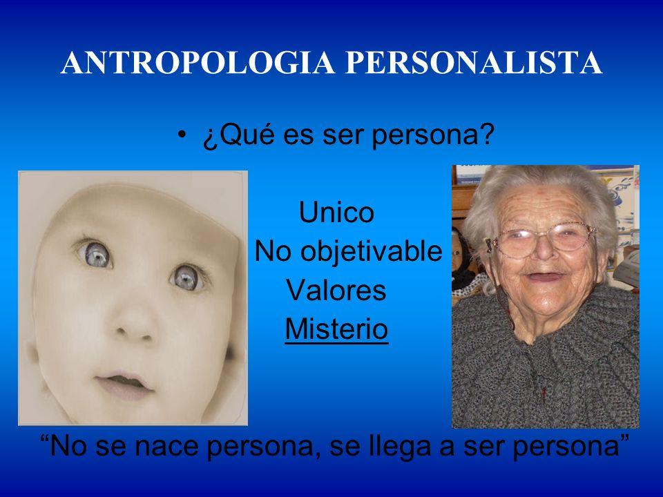 ANTROPOLOGIA PERSONALISTA