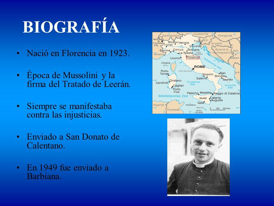 BIOGRAFÍA Nació en Florencia en 1923.
