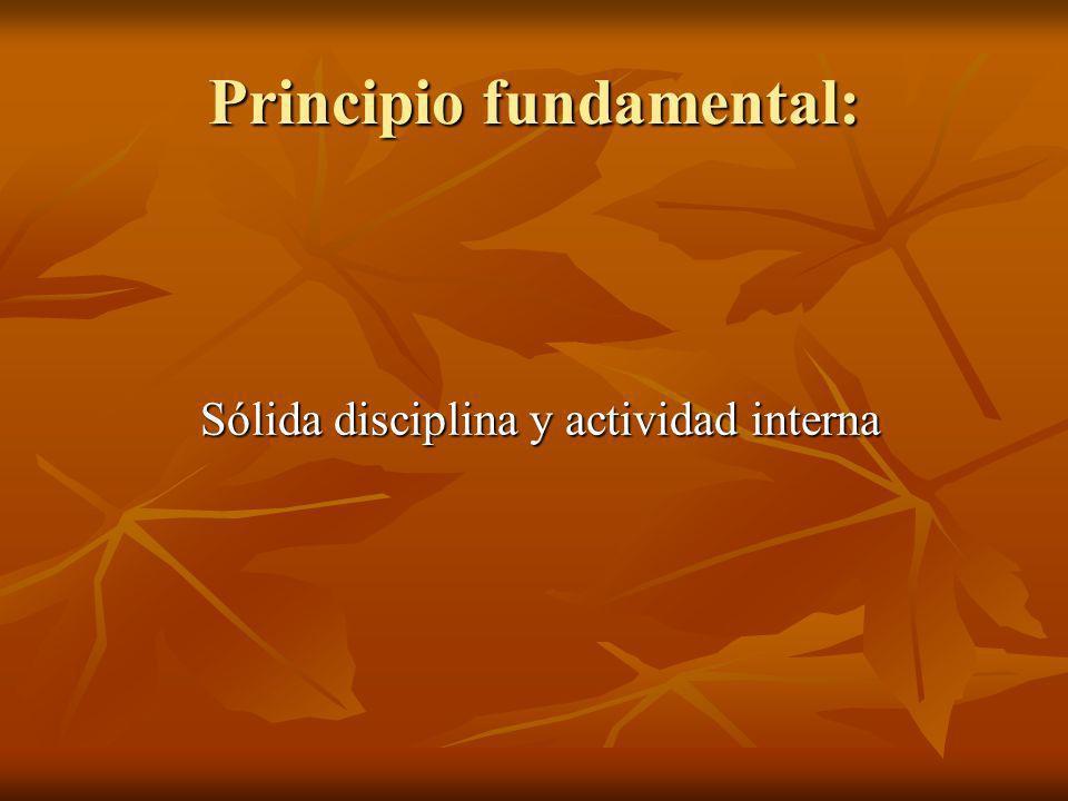 Principio fundamental:
