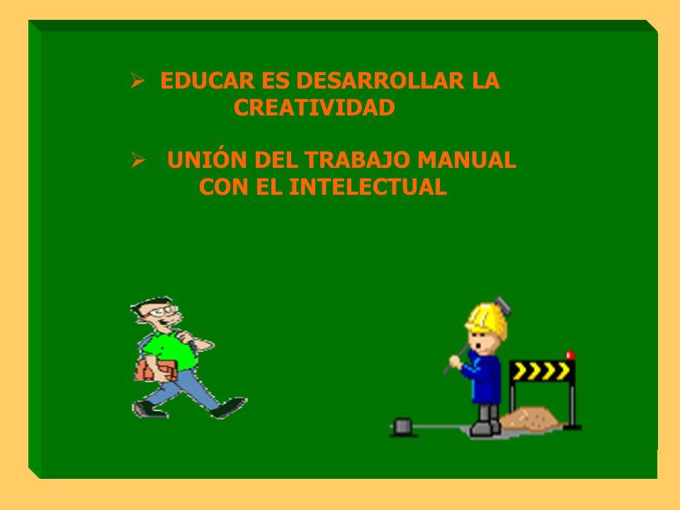 SER DE PRAXIS EDUCAR ES DESARROLLAR LA CREATIVIDAD