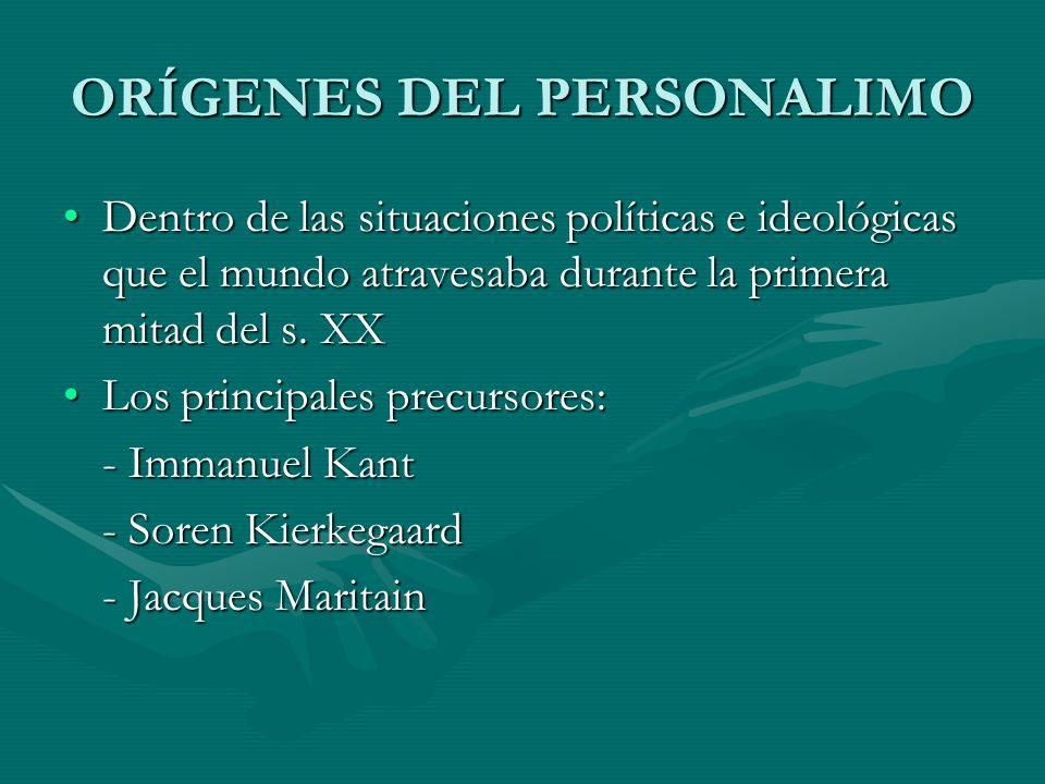 ORÍGENES DEL PERSONALIMO