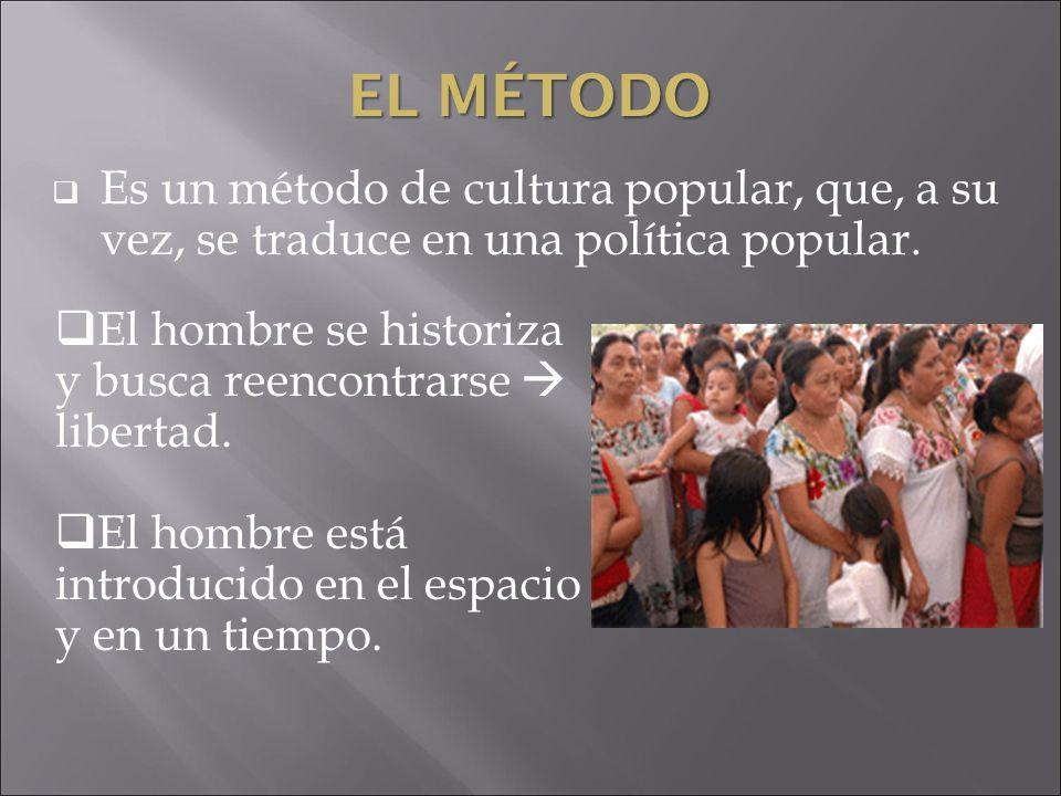 El Método Es un método de cultura popular, que, a su vez, se traduce en una política popular.