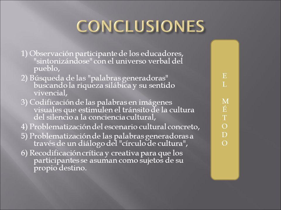 4) Problematización del escenario cultural concreto,