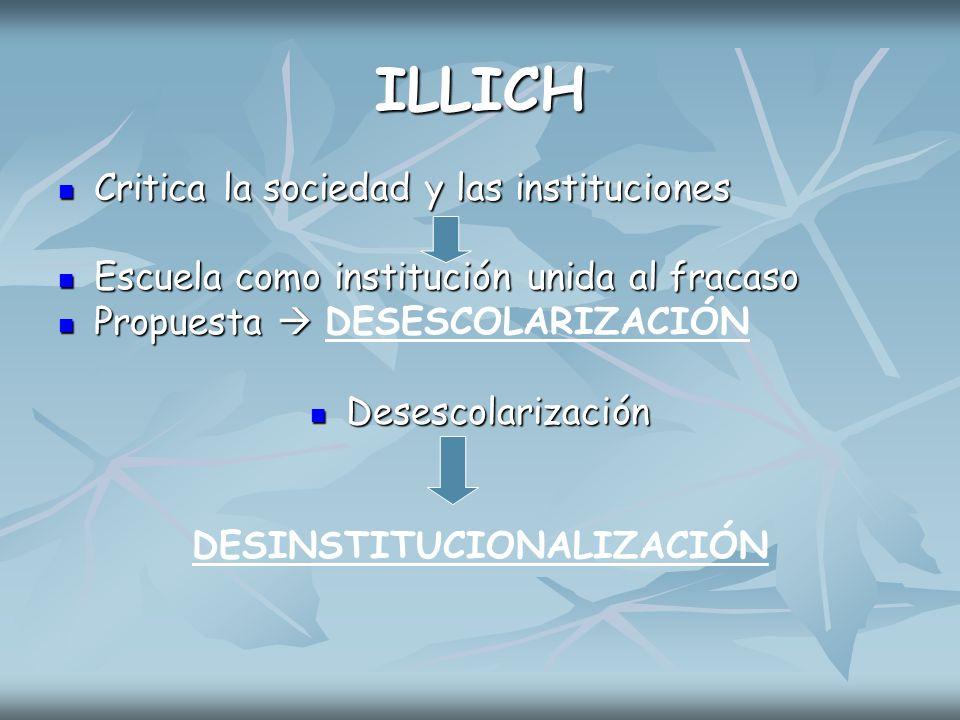 DESINSTITUCIONALIZACIÓN