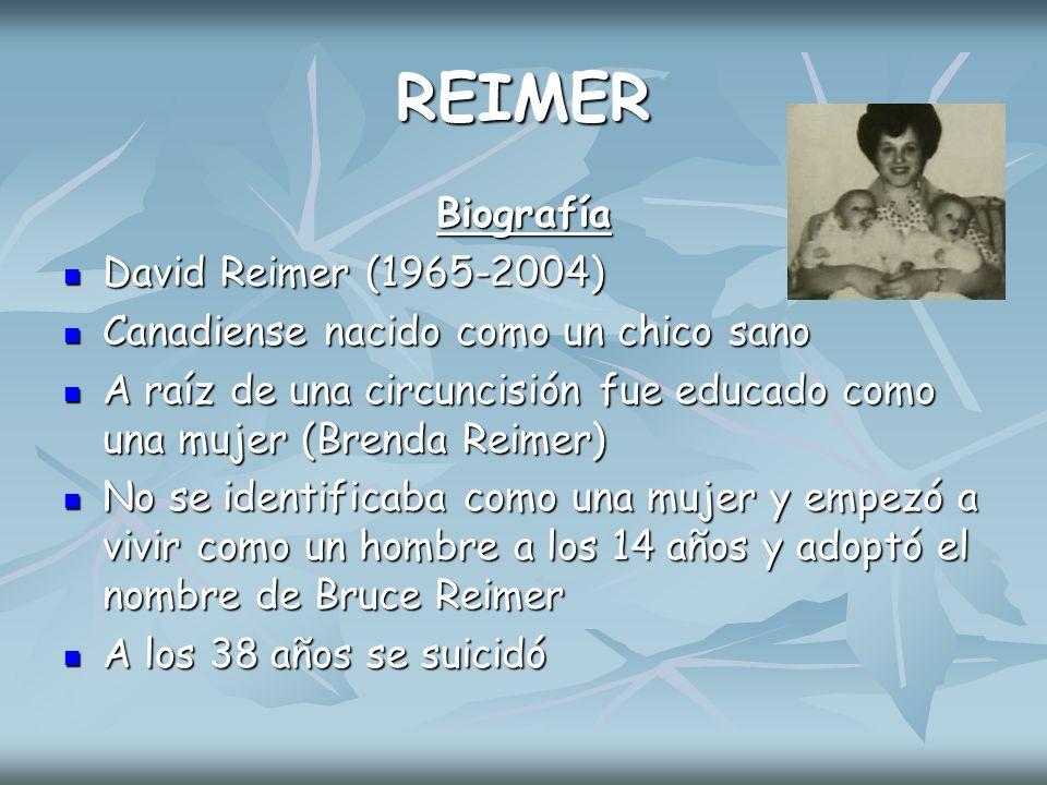 REIMER Biografía David Reimer (1965-2004)