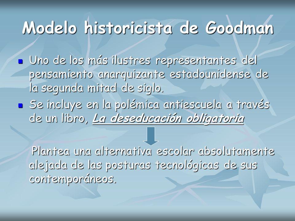 Modelo historicista de Goodman