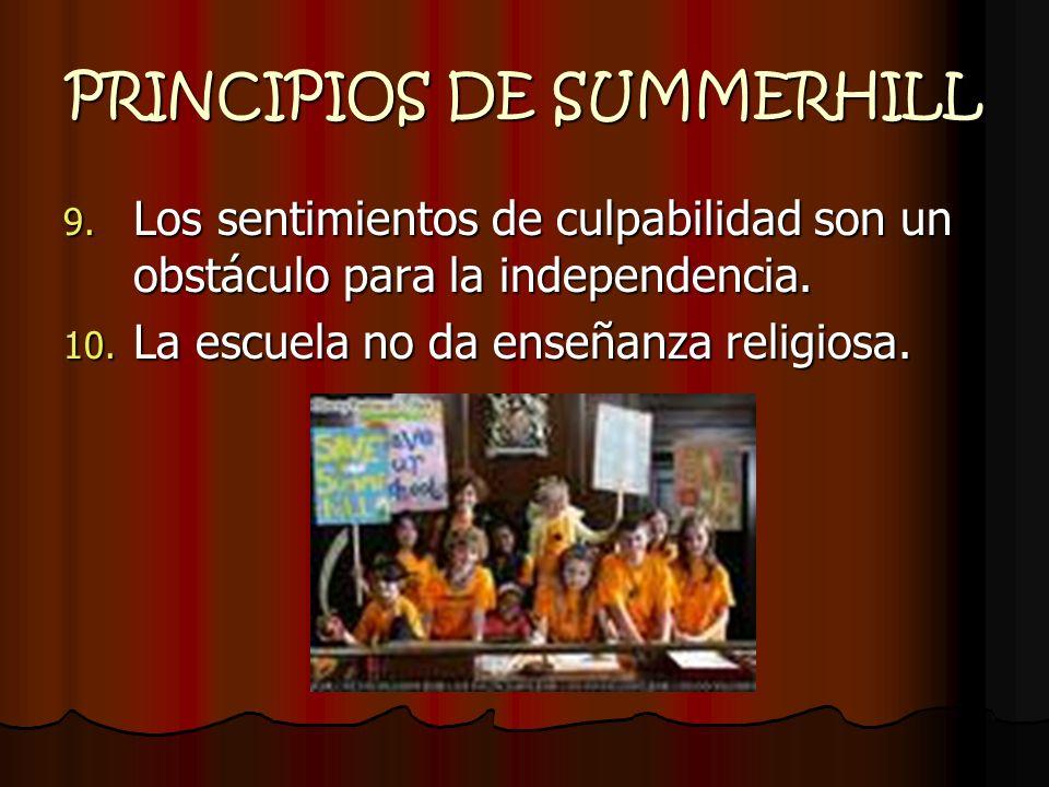 PRINCIPIOS DE SUMMERHILL